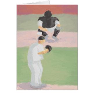 Jarra y colector, tarjeta del béisbol de felicitac