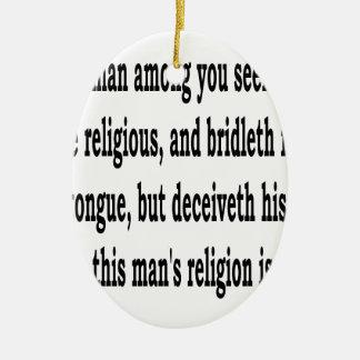 Jas. 1:26, w adorno de cerámica