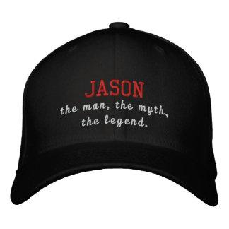 Jason el hombre, el mito, la leyenda gorro bordado