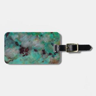 Jaspe azul de Chrysocolla Etiquetas Para Maletas