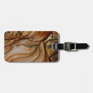 Jaspe de color marrón de Deschutes Etiquetas Para Maletas