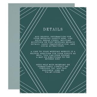 Jaspe de la tarjeta de detalles de la huésped del invitación 10,8 x 13,9 cm
