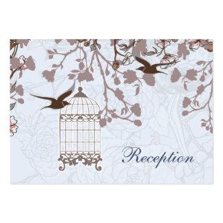 jaula de pájaros azul, tarjetas de la recepción tarjetas de visita grandes