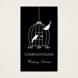 Jaula de pájaros de la plantilla de la tarjeta de