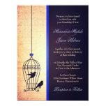Jaula de pájaros imaginaria con casarse de Blue Comunicado Personalizado
