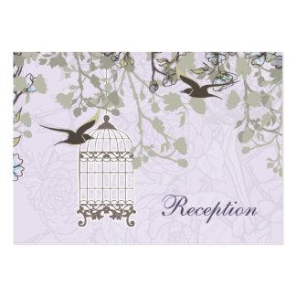jaula de pájaros púrpura, tarjeta de la recepción tarjetas de visita grandes