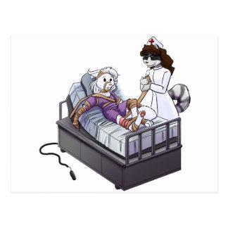 Jazmín y Quinn: ¡Enfermera!  ¡Enfermera! Postal