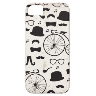 jazz del bigote del friki del inconformista iPhone 5 Case-Mate coberturas