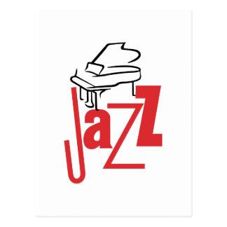 Jazz del piano postal