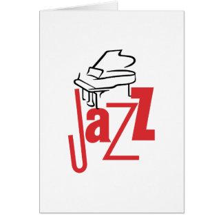 Jazz del piano tarjeta de felicitación