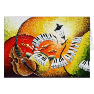Jazz en la tarjeta de felicitación de las colinas