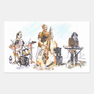 Jazz Trio Concert Pegatina Rectangular