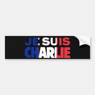 Je Suis Charlie - soy Charlie tricolor de Francia Pegatina Para Coche