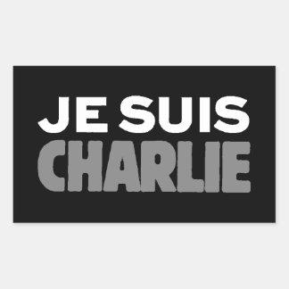 Je Suis Charlie - soy negro de Charlie Pegatina Rectangular
