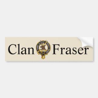 Je Suis Prest - escudo de Fraser del clan Pegatina Para Coche