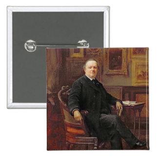 Jean-Baptiste Foucart 1894 Chapa Cuadrada 5 Cm