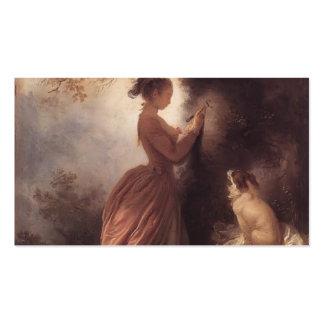 Jean-Honore Fragonard- el recuerdo Tarjetas De Visita