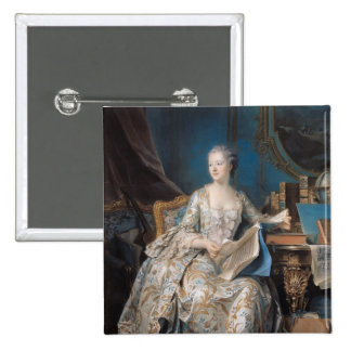 Jeanne Poisson el marqués de Pompadour, 1755 Chapa Cuadrada