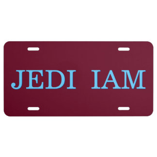 Jedi soy placa de aluminio de encargo fresca placa de matrícula