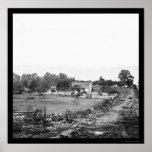 Jefaturas de la unión en Gettysburg 1863 Posters