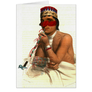 Jefe 1836 del Chippeway Tarjeta De Felicitación