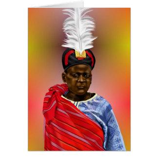 Jefe africano tarjeta de felicitación