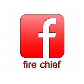 Jefe de bomberos de Facebook del logotipo de la Postal