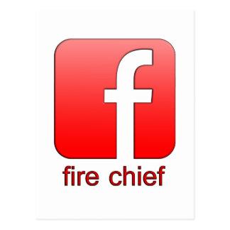 Jefe de bomberos de Facebook del logotipo de la Tarjetas Postales