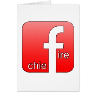 Jefe de bomberos de Facebook del regalo único del Tarjeta De Felicitación