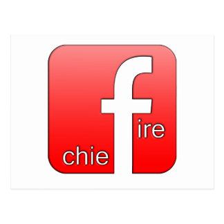 Jefe de bomberos de Facebook del regalo único del Postales