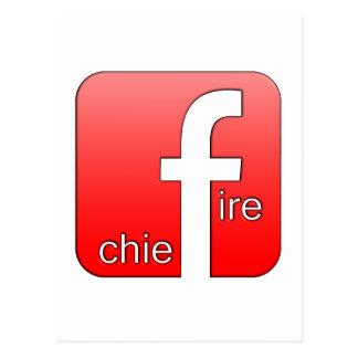 Jefe de bomberos de Facebook del regalo único del Postal