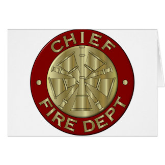 Jefe de bomberos de la tarjeta…