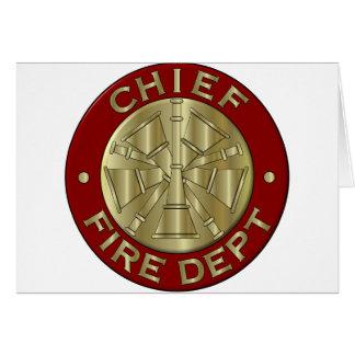 Jefe de bomberos de la tarjeta… tarjeta de felicitación