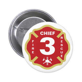 Jefe de bomberos del botón de la insignia