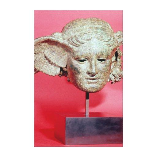 Jefe de Hypnos, copia de una original helenística Impresiones En Lona