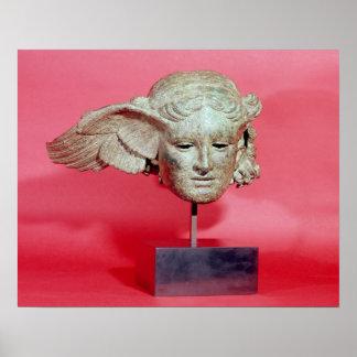 Jefe de Hypnos, copia de una original helenística Posters