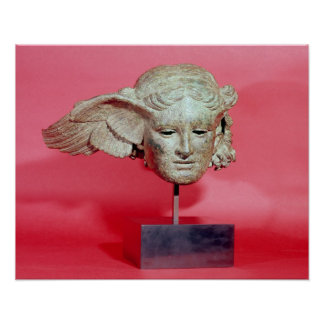 Jefe de Hypnos, copia de una original helenística Póster