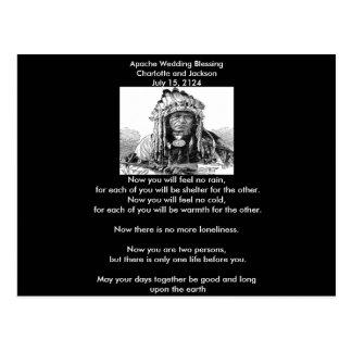 Jefe de la bendición del boda de Apache Postal