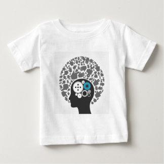 Jefe de manos camiseta de bebé