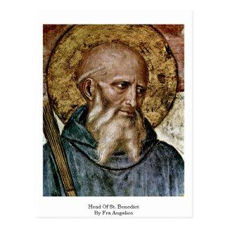 Jefe de St. Benedicto por Fra Angelico Postal