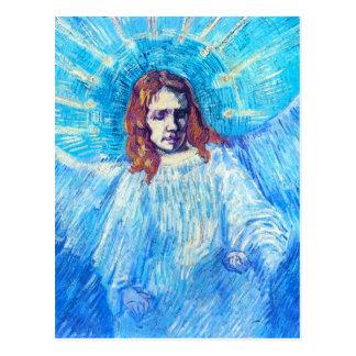 Jefe de Van Gogh de una postal del ángel