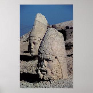 Jefe de Zeus-Oromandes y una diosa Posters