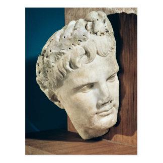 Jefe del emperador Augustus 27-17 A.C. Postal