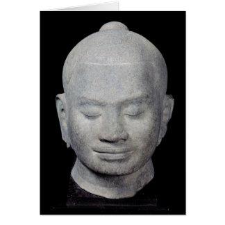 Jefe del estilo de rey Jayavarman VII Bayon Tarjeta De Felicitación
