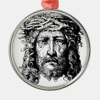 Jefe del Jesucristo Adorno Navideño Redondo De Metal