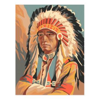 Jefe del nativo americano postal