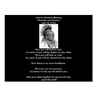Jefe del Ojibwa de la bendición del boda de Apache Tarjetas Postales