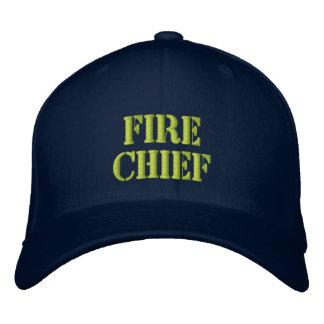 Jefe-Gorra del fuego Gorra Bordada