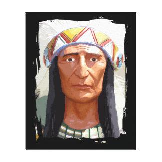 Jefe indio americano impresiones en lienzo estiradas