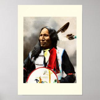 Jefe indio de Siux Póster